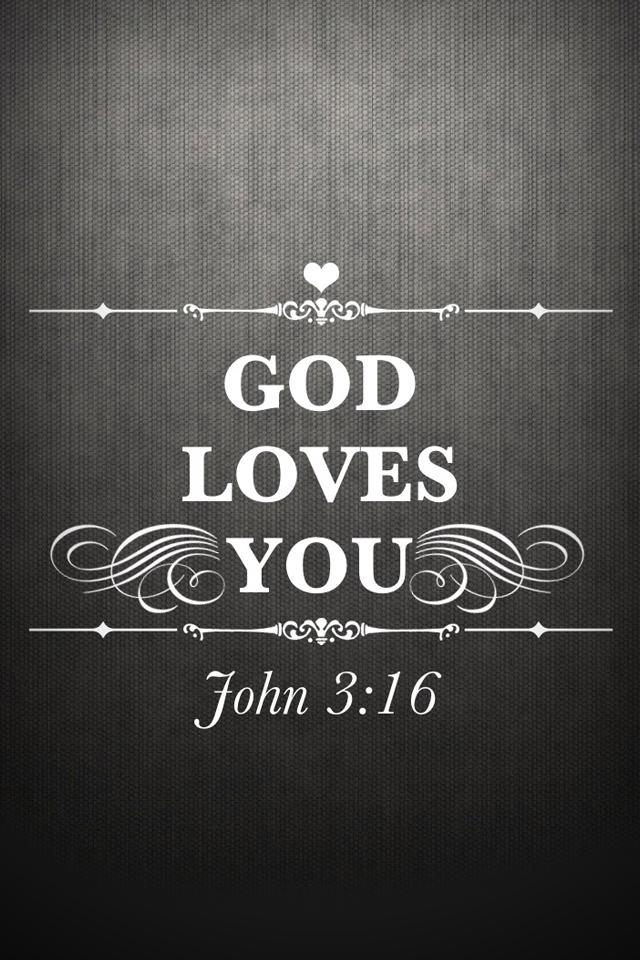 John 3 16 God Loves You Christian Iphone